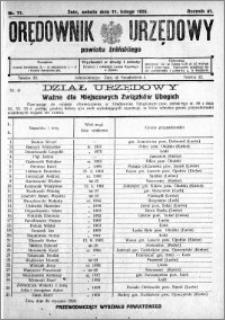 Orędownik Urzędowy powiatu Żnińskiego 1928.02.11 R.41 nr 11