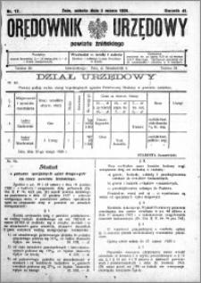 Orędownik Urzędowy powiatu Żnińskiego 1928.03.03 R.41 nr 17