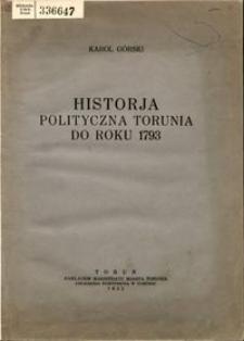 Historia polityczna Torunia do roku 1793