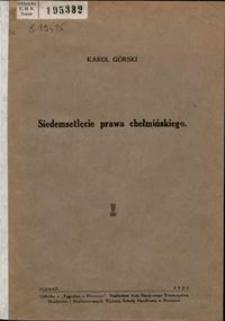 700-lecie prawa chełmińskiego