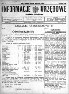 Informacje Urzędowe powiatu Żnińskiego 1929.01.05 R.42 nr 1