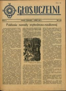 Głos Uczelni / UMK R. 2 nr 6 (9) (1953)
