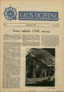 Głos Uczelni / UMK R. 5 nr 7 (39) (1956)