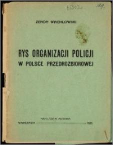Rys organizacji policji w Polsce przedrozbiorowej