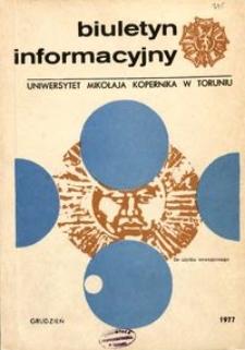 Biuletyn Informacyjny / Uniwersytet Mikołaja Kopernika w Toruniu 1977 grudzień