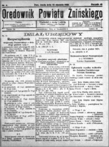 Orędownik Powiatu Żnińskiego 1930.01.15 R.43 nr 4
