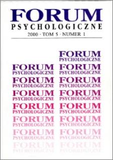 Forum Psychologiczne 2000 T.5 nr 1