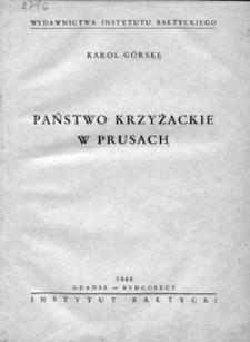 Państwo krzyżackie w Prusach