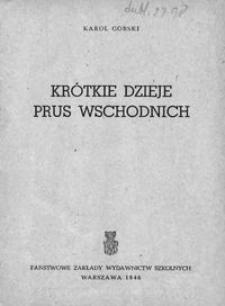 Krótkie dzieje Prus Wschodnich
