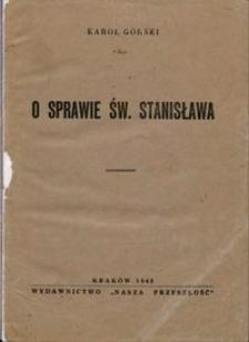 O sprawie św. Stanisława