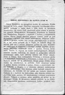 Dzieje Kruszwicy do końca XVIII w.