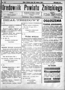 Orędownik Powiatu Żnińskiego 1931.03.25 R.44 nr 22