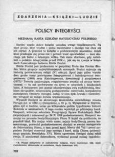 Polscy intengryści : nieznana karta dziejów katolicyzmu polskiego