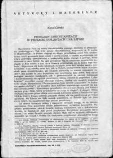 Problemy chrystianizacji w Prusach, Inflantach i na Litwie