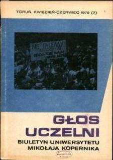 Głos Uczelni : biuletyn Uniwersytetu Mikołaja Kopernika 1979 nr 7