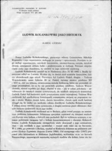 Ludwik Kolankowski jako historyk