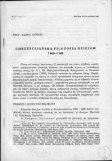 Chrześcijańska filozofia dziejów : 1945-1966