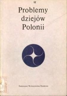 Problemy dziejów Polonii