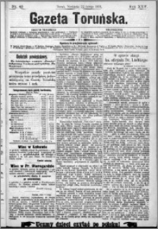 Gazeta Toruńska 1891, R. 25 nr 43