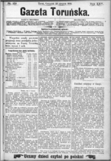Gazeta Toruńska 1891, R. 25 nr 189
