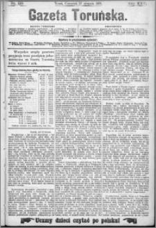 Gazeta Toruńska 1891, R. 25 nr 195