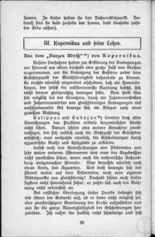 """Aus dem """"Kurzen Abriss"""" von Kopernikus"""