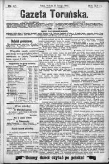 Gazeta Toruńska 1892, R. 26 nr 47