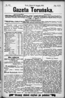 Gazeta Toruńska 1892, R. 26 nr 273