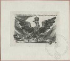 Ekslibris Bibliothecae Polonicae Londinii - Elementum meum libertas