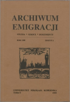 Archiwum Emigracji : studia, szkice, dokumenty Z. 2 (1999)