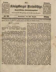 Königsberger Freimüthige Jg 6 nr 27 (30 August 1845)