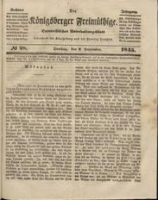 Königsberger Freimüthige Jg 6 nr 28 (2 September 1845)