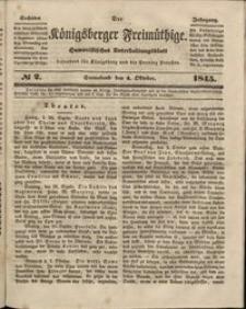 Königsberger Freimüthige Jg 6 nr 2 (4 October 1845)