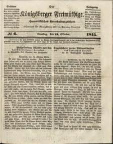 Königsberger Freimüthige Jg 6 nr 6 (14 October 1845)