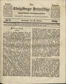 Königsberger Freimüthige Jg 6 nr 8 (18 October 1845)