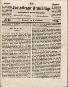 Königsberger Freimüthige Jg 6 nr 15 (4 November1845)