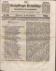 Königsberger Freimüthige Jg 6 nr 22 (20 November1845)