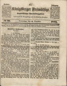Königsberger Freimüthige Jg 6 nr 31 (11 December1845)