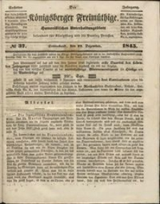 Königsberger Freimüthige Jg 6 nr 37 (25 December1845)