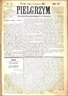 Pielgrzym, pismo religijne dla ludu 1885 nr 43
