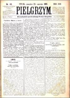 Pielgrzym, pismo religijne dla ludu 1885 nr 48