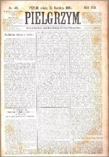 Pielgrzym, pismo religijne dla ludu 1885 nr 49