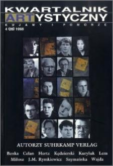 Kwartalnik Artystyczny : Kujawy i Pomorze 1998 nr 4(20)