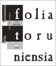 Folia Toruniensia 9-10 (2009-2010)