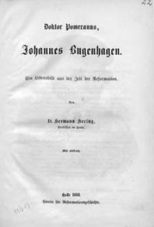Doktor Pomeranus, Johannes Bugenhagen : ein Lebensbild aus der Zeit der Reformation