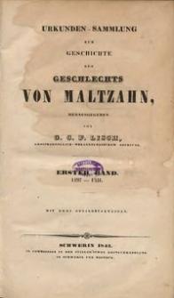 Urkunden-Sammlung zur Geschichte des Geschlechts von Maltzahn. Bd. 1, 1197-1331