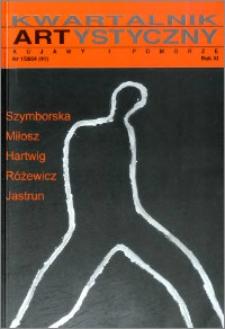 Kwartalnik Artystyczny : Kujawy i Pomorze 2004 nr 1(41)