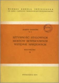 Zeszyty Naukowe. Budownictwo / Wyższa Szkoła Inżynierska im. Jana i Jędrzeja Śniadeckich w Bydgoszczy, z.3 (5), 1973