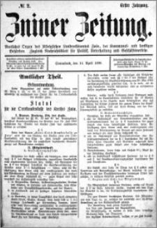 Zniner Zeitung 1888.04.14 R.1 nr 2