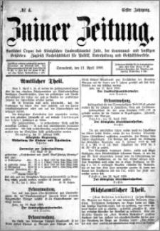 Zniner Zeitung 1888.04.21 R.1 nr 4